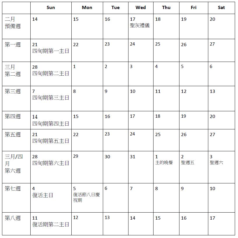 播種默觀的種子日曆